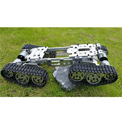 Wenhsin CNC Damping Balance Tank Chassis RC Truck Robot Arduino Car 155 X 8