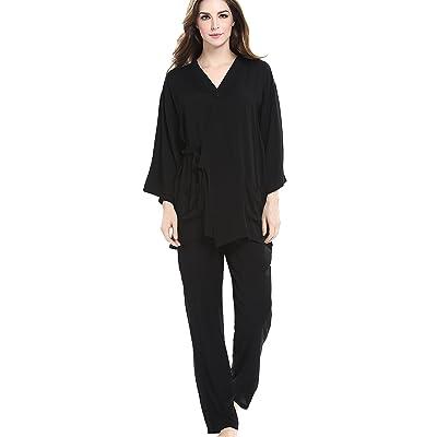 ROSEHUI Womens Pajamas Sets Cotton Two Piece Sleepwear Long Sleeve PJ Set Suits S-XXL