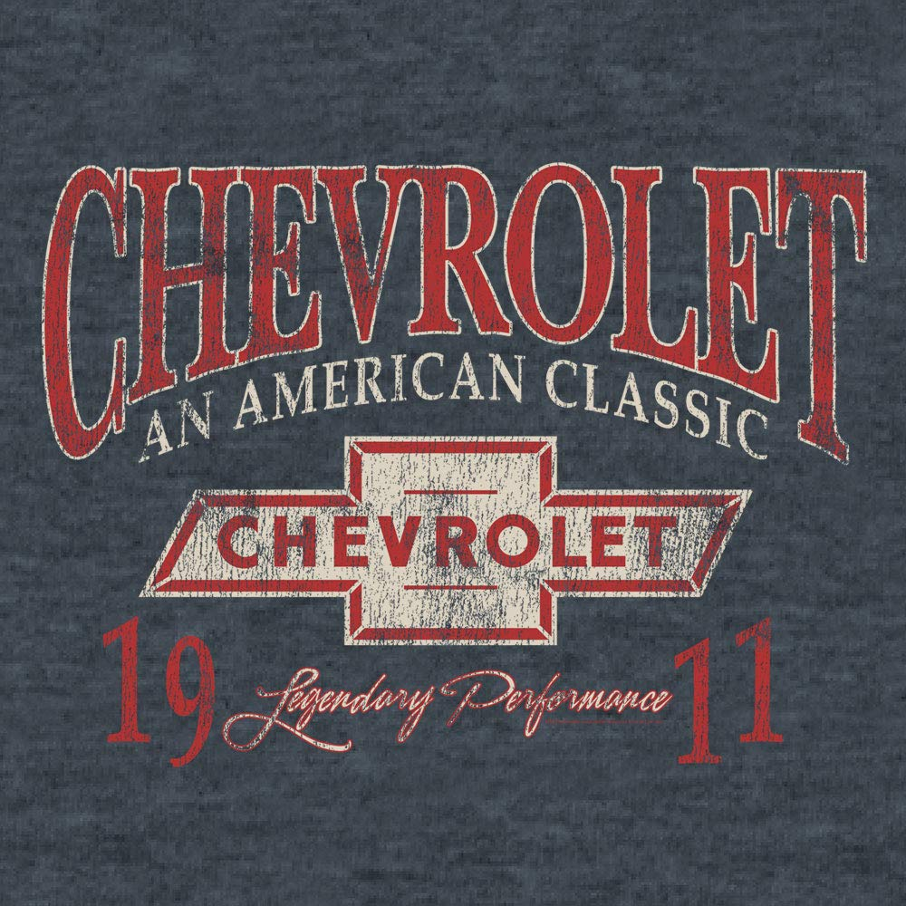Chevrolet Soft Touch Tee Indigo Black Heather an American Classic