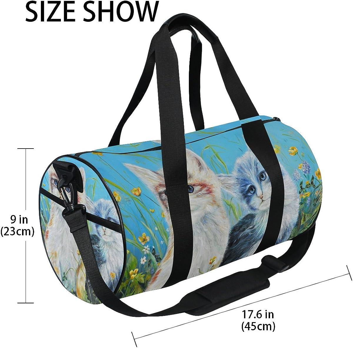 Evolutions Cute Cats Travel Duffel Bag Sports Gym Bag For Men /& Women