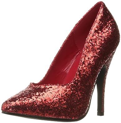 Ellie Shoes Women s Shoes 5 Inch Glitter Pump (Red Glitter ... e6c72d8b6