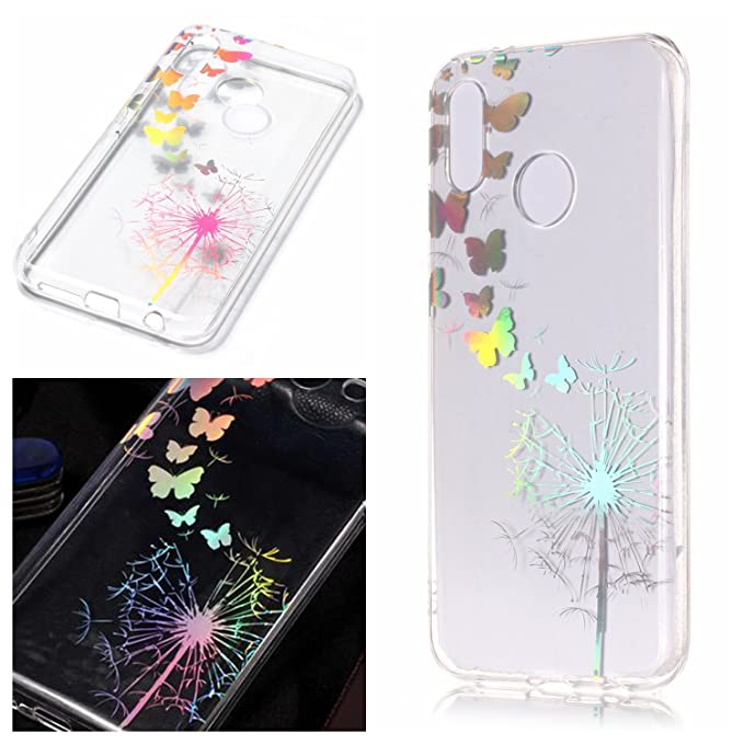 Amazon.com: AIIYG DS,Huawei P20 Lite Case Electroplating Mandala Floral Pattern Case for Huawei P20 Lite (Butterfly Dandelion): Cell Phones & Accessories