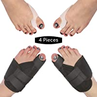 Bunion Corrector Kit of Four Pack of Bunion Splints and Relief Pads. Get The Relief You've Been Wishing for with one Pair of Toe Splints and One Pair of Toe Separators/Spacers