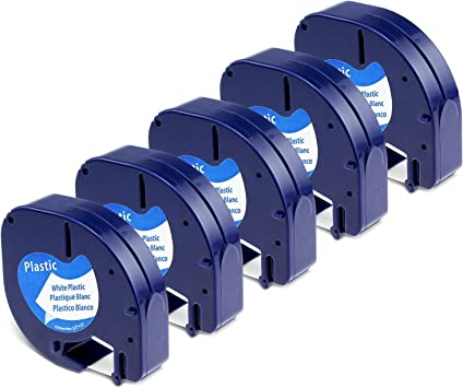 3x DYMO Etikettenband für DYMO LetraTag Etikettendrucker QX-50 LT-100T XR 12mm