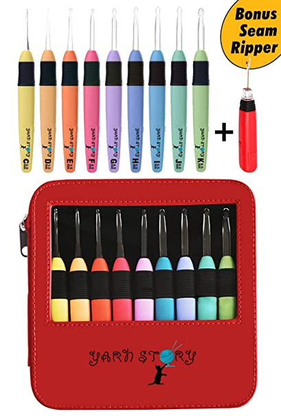 Amazoncom Lighted Crochet Hooks With Case Value Pack 9pkg Set And