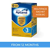 Aptamil Gold+ 3 Toddler Milk Drink, Multipack Sachet, 4 Pack, 155.2 g