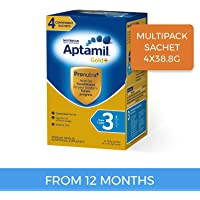 Aptamil Gold+ Toddler Milk Drink Stage 3 Multipack Sachet, 4 Pack, 155.2g