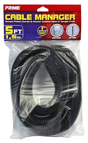 Amazon.com: Prime Wire & Cable PBCM0001 5-Feet Cable Manager Surge ...