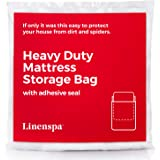 Linenspa Heavy Duty 6 mil Mattress Bag for Moving, Storage and Disposal - Twin/Twin XL