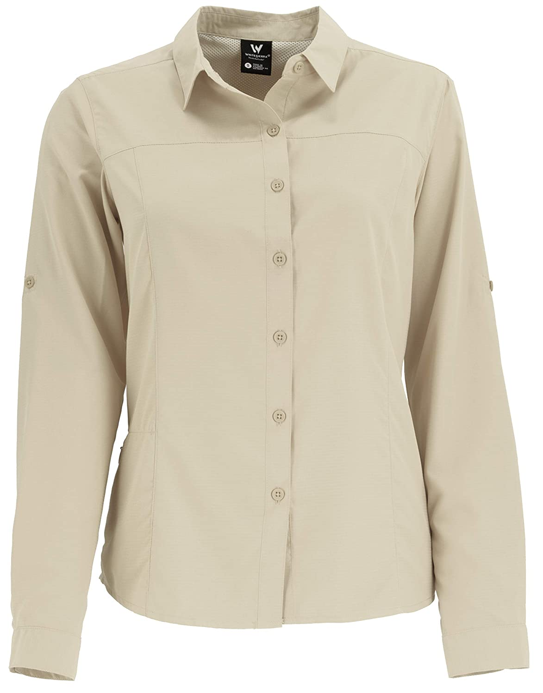 White Sierra Womens Gobi Desert Long-Sleeve Shirt