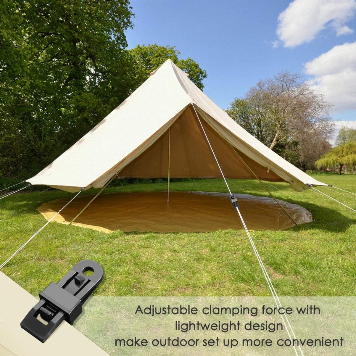 15x Reusable Tent Tarp Tarpaulin Alligator Mouth Clip Clamp Camping Heavy Duty