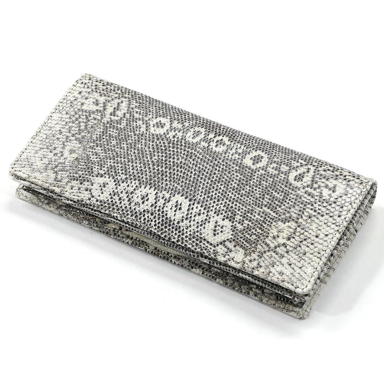 LIZA1075-2 長財布 メンズ 本革 かぶせ 札入れ リザード トカゲ 無双仕様 通しまち 小銭入れなし 日本製 柄 B07BVQ3ZKY