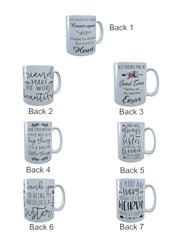 Custom Best Friend Mug,Tea Mug Three Best Friends Forever Mug Coffee Mug