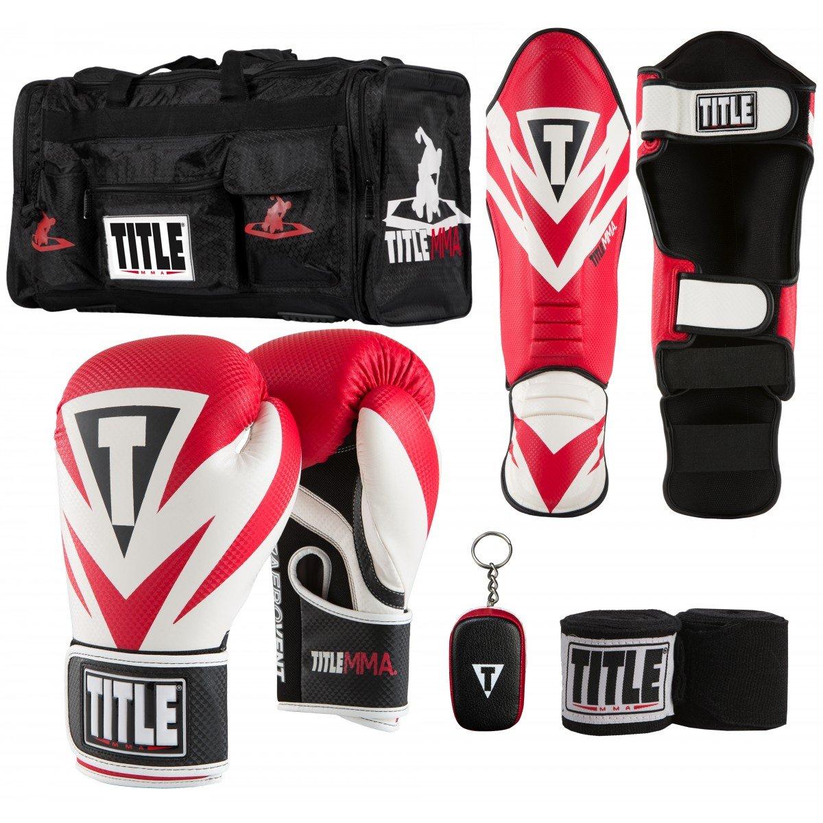 Title MMAトレーニングセットVI B0784HJQC3 レッド 12 oz