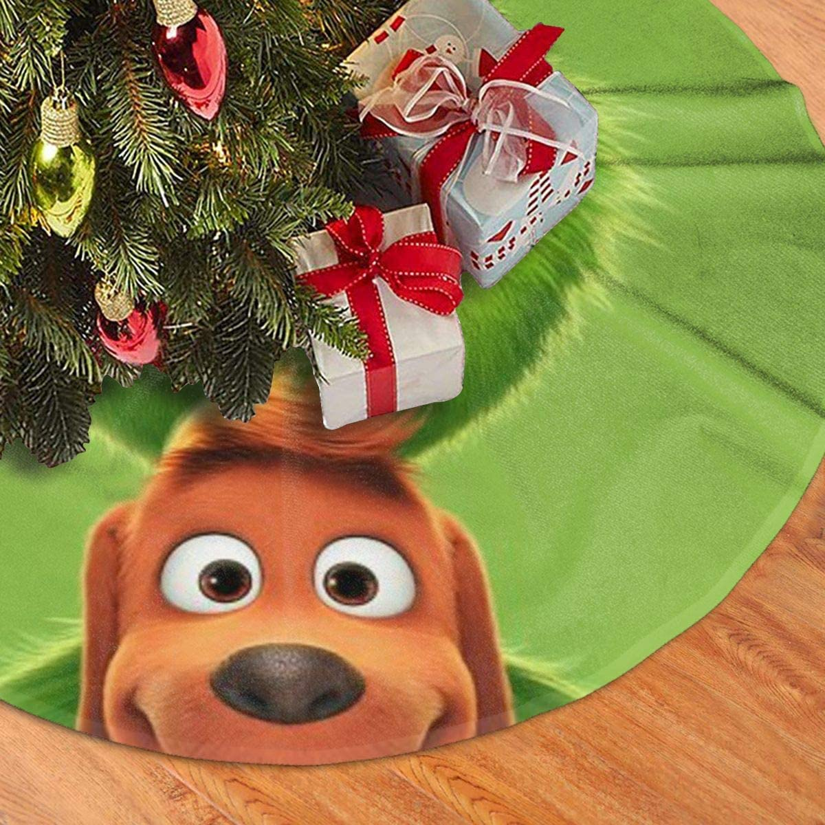 Muelmary The Grinch Stole Christmas Christmas Tree Skirt For Christmas Decorations For Xmas Party And Holiday Decorations Seasonal Décor Home Kitchen