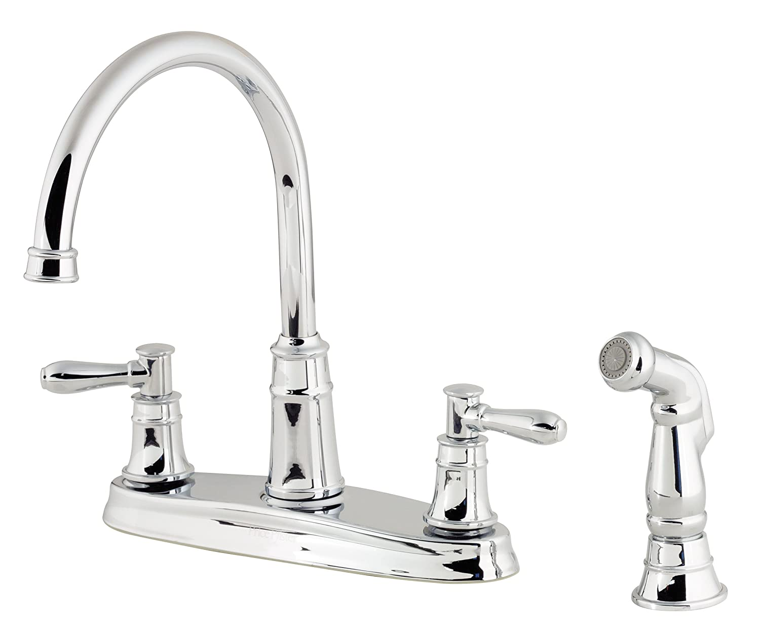 pfister harbor 2 handle kitchen faucet with side spray polished pfister harbor 2 handle kitchen faucet with side spray polished chrome touch on kitchen sink faucets amazon com