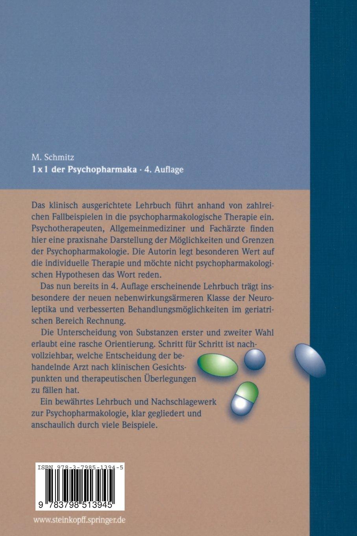 1 × 1 der Psychopharmaka: Grundlagen, Standardtherapien und Neue Konzepte  German Edition: Amazon.de: Margot Schmitz: Bücher