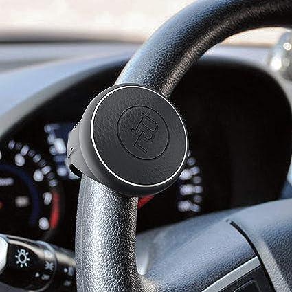 para todos los veh/ículos de coche UMISKY compacto y seguro compacto Pomo giratorio para volante de piel de silicona
