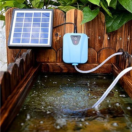 NICERIO Aireador de burbujas de aire móvil de carga móvil Bomba de estanque de peces de acuario bomba de oxígeno hidropónico (azul): Amazon.es: Bricolaje y ...