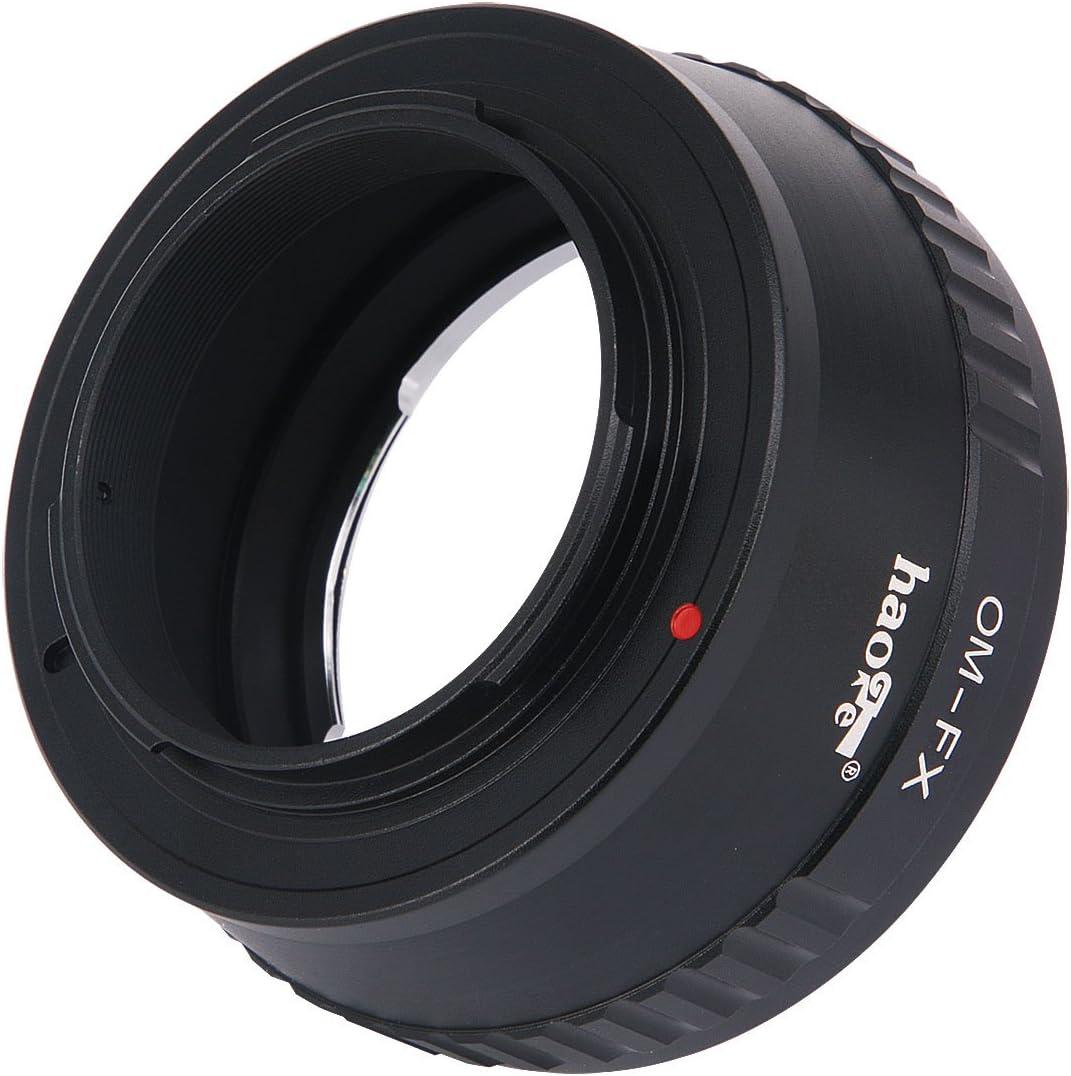 Haoge Manual Lens Mount Adapter for Olympus OM Zuiko Lens to Fujifilm Fuji X FX Mount Camera Such as X-A10 X-A20 X-E1 X-E2 X-E2s X-E3 X-H1 X-M1 X-Pro1 X-Pro2 X-T1 X-T2 X-T3 X-T10 X-T20 X-T30 X-T100