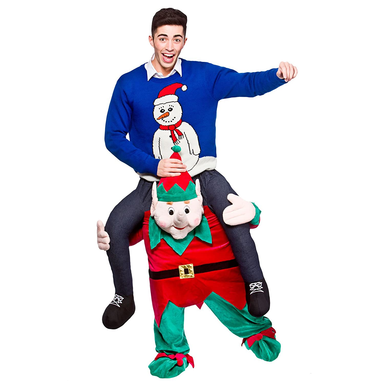 Large Mens Ride On Piggy Back Baby Fancy Dress Costume Stag Outfit