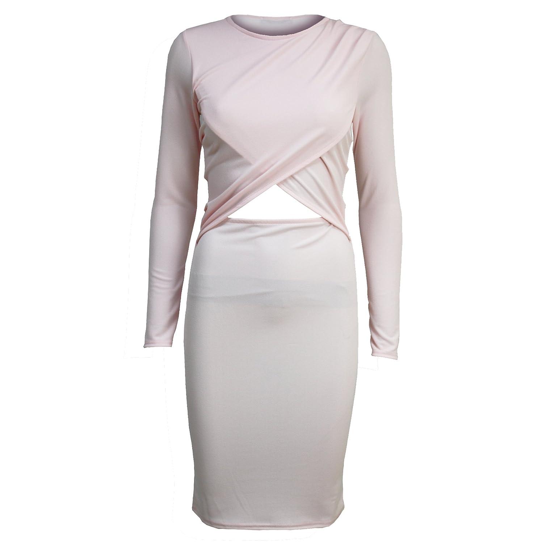 Pure Fashion Damen Long Sleeve körperbetont Mehrfarbig