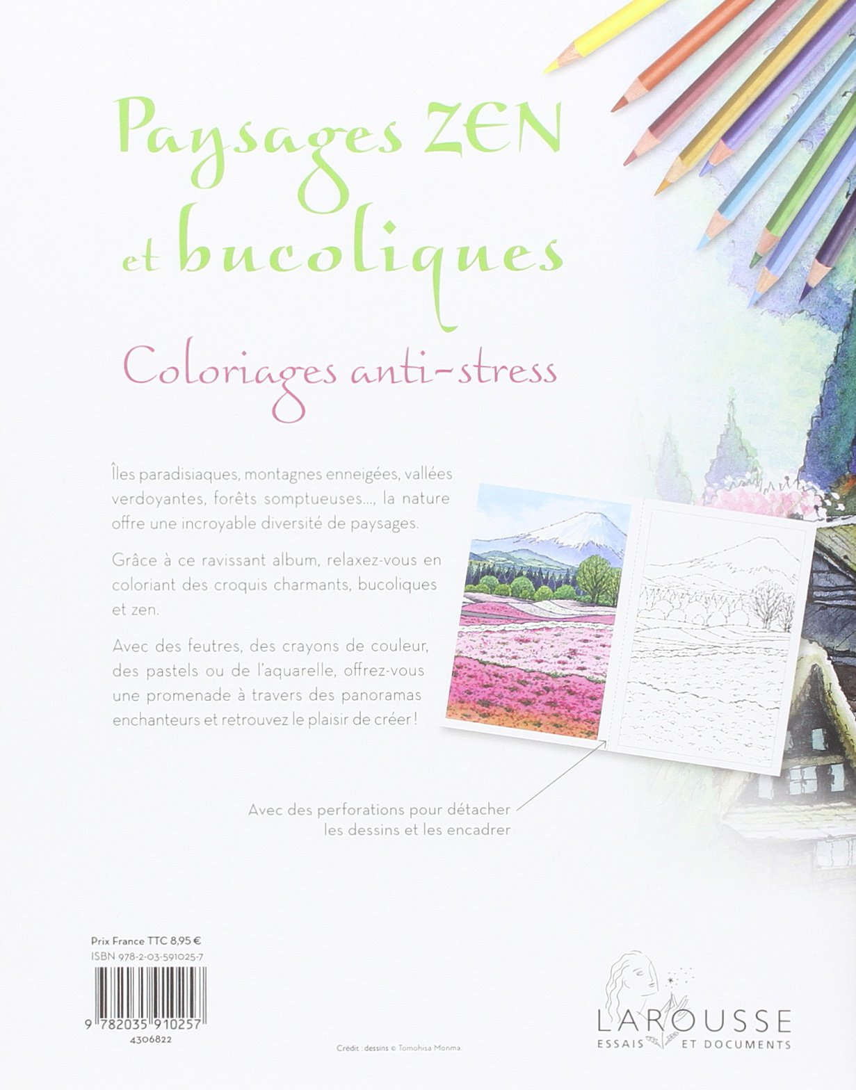 Amazon Cahiers coloriages paysages Zen et bucoliques Collectif Livres