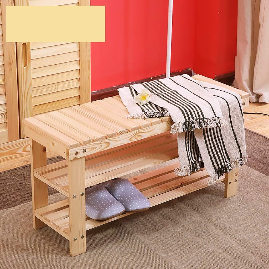 Amazon.com: ZJF - Zapatero de madera maciza para el hogar ...
