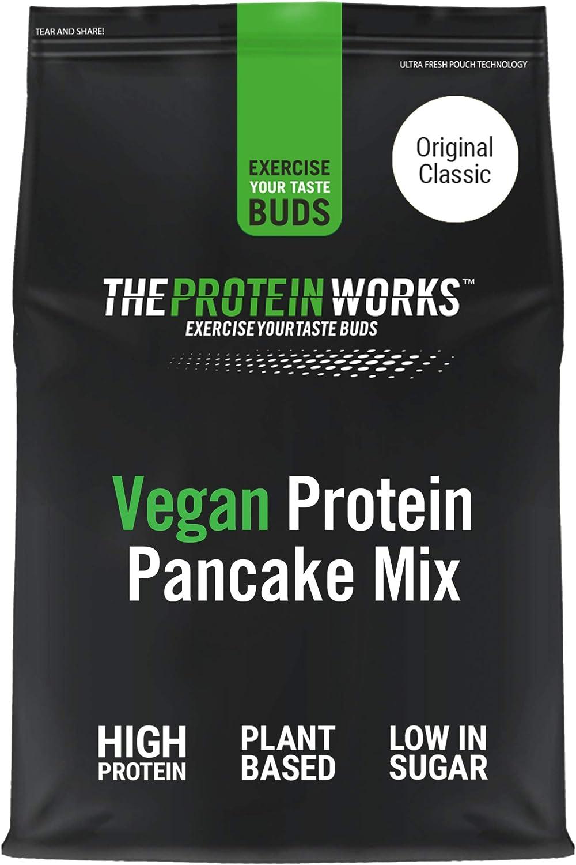 THE PROTEIN WORKS Tortitas Veganas Proteicas   Alto En Proteínas, 4 Tipos De Proteínas Vegetales, Bajo En Azúcar   Original, 500 g