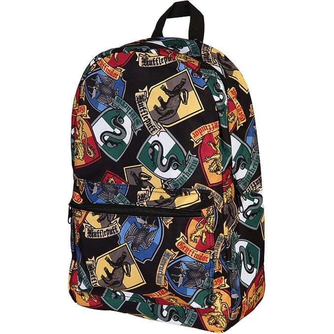 Harry Potter Hogwarts House crestas Todo Imprimir mochila: Amazon.es: Ropa y accesorios