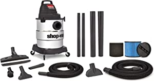 Shop-Vac 6000610 6 Gallon 4.5 Peak HP Industrial Wet Dry Vacuum
