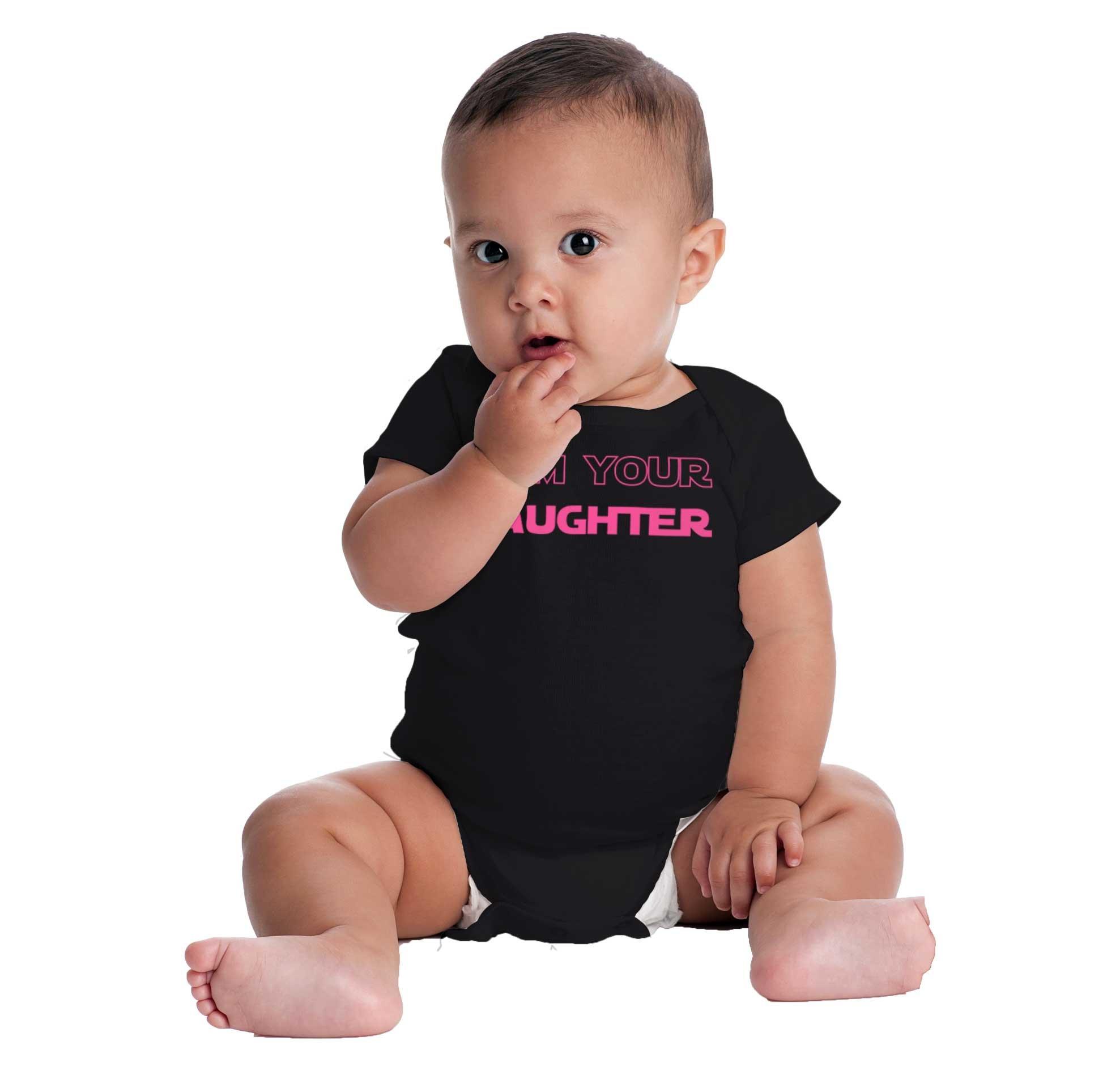 I Am Your Daughter Cute Darth Vader Star Wars Yoda Romper Bodysuit by Brisco Brands (Image #3)