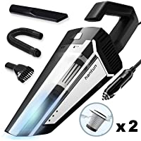Hantun Car Vacuum, Corded 12V 120W 5000Pa High Power Portable Handheld Vacuum Cleaner with 16.4FT(5M) Power Cord, Strong Aluminum Fan, 2 HEPA Filter, Wet/Dry Use, for Car Cleaning