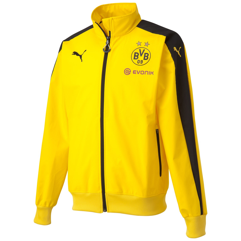 Puma BVB Performance Stadium Jacket - Cyber Yellow-schwarz