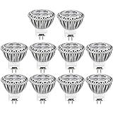 AGOTD Ampoules LED Spot GU4 Led 12V AC/DC 3W Lampe, 35X38mm(1.38x1.50 inch), MR11 Eclairage, Petite Mini Spot Lumiere 3 Watt 250 Lumen,Blanc Chaud, Culot GU4, 35W Ampoule Halogene equivalent, 2700 Kelvin,Lot de 10