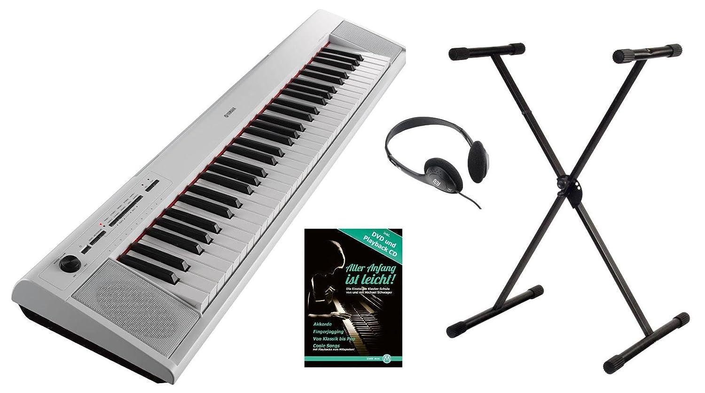Yamaha piag Gero NP de 12wh Portable Piano Set (61 teclas sensibles al tacto, 10 sonidos de Top, Record de función, incluye soporte para teclado, ...