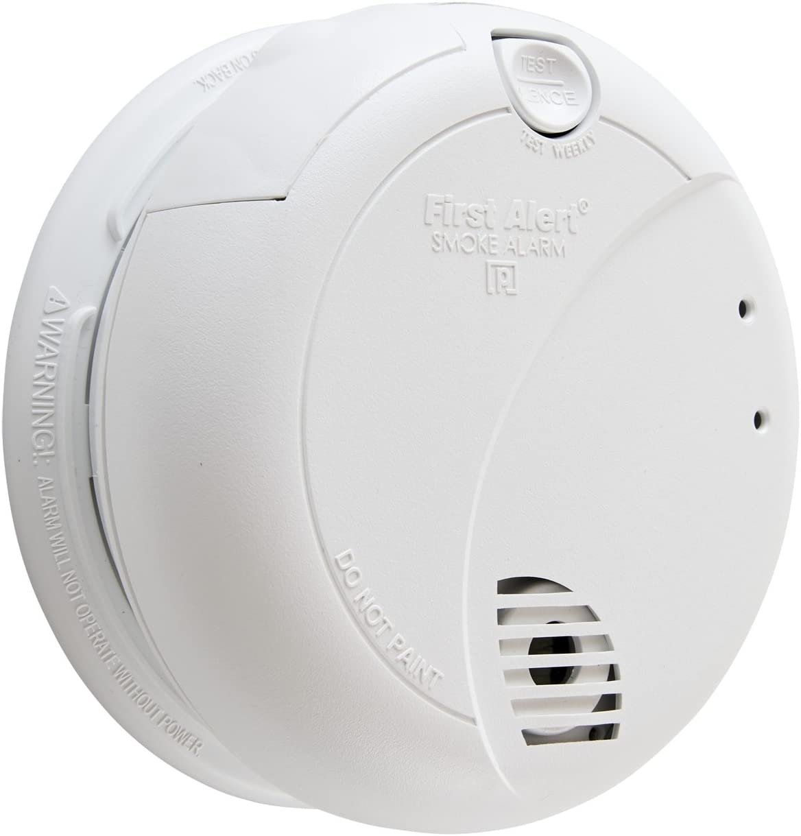 First Alert BRK 7010B Hardwired Smoke Detector with Photoelectric Sensor and Battery Backup - Smoke Detectors -