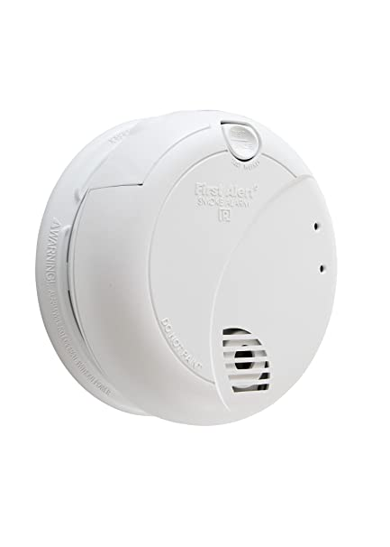 First Alert Hardwired Smoke Alarm with Photoelectric Sensor and Battery Backup, BRK 7010B