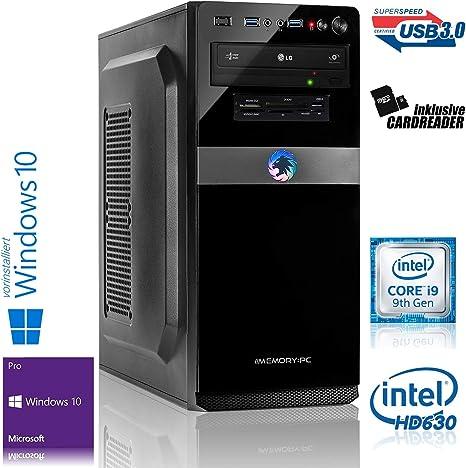 Memory PC - Ordenador de sobremesa (Intel i9-9900K, 8 x 3,6 GHz ...
