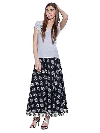 f38cf86173631 ShalinIndia Women's Cotton Ankle Length Long Skirt Maxi Gypsy Indian ...