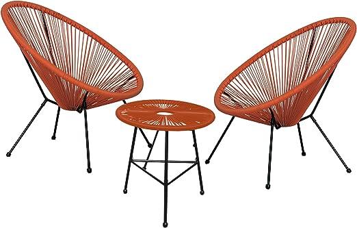 Autrefois Antiguos Conjunto de salón de jardín y de Interior, 2 sillas ...