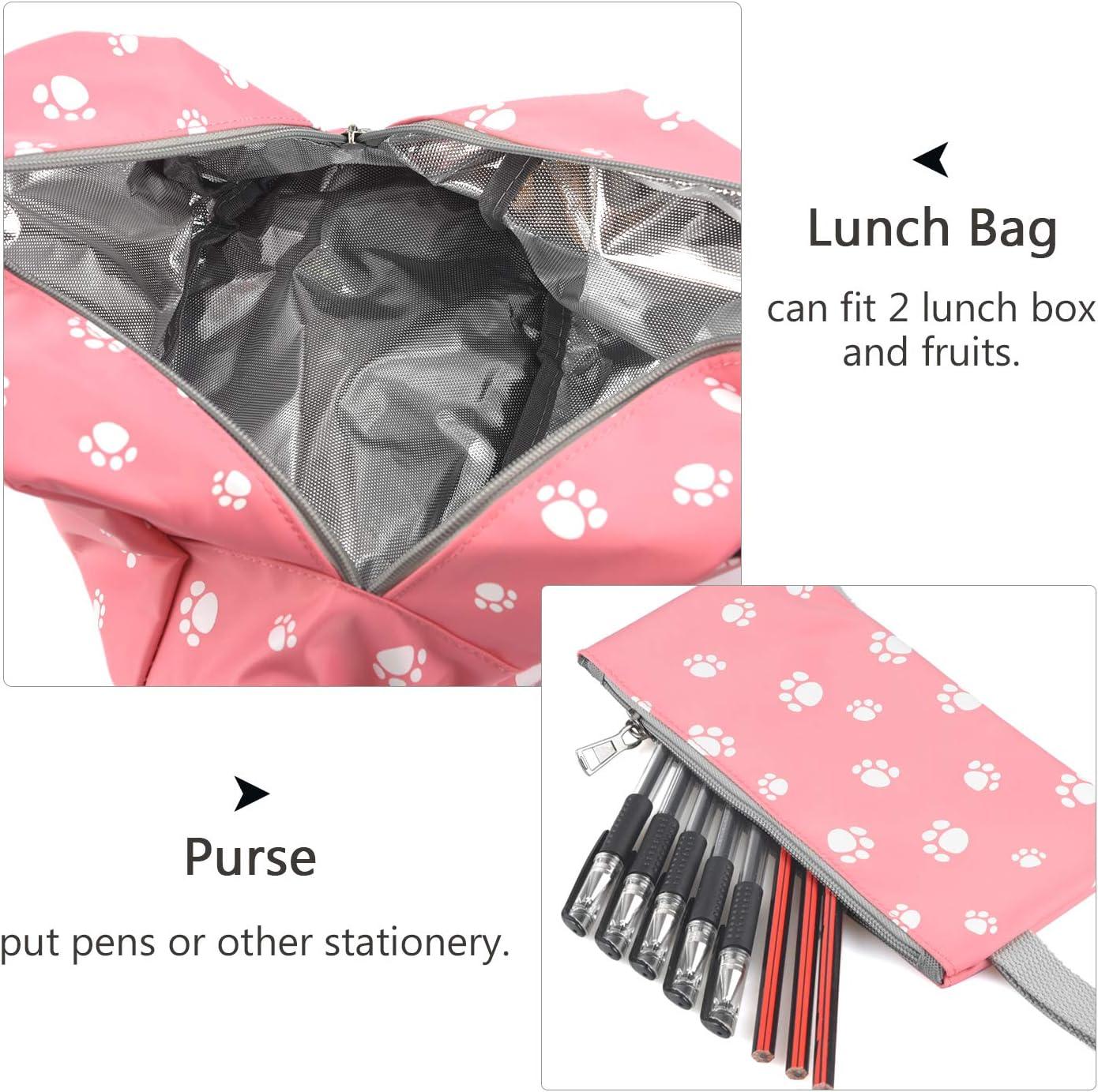 Mochila infantil impermeable para ni/ñas con bolsa para almuerzo Polvo large DCCN