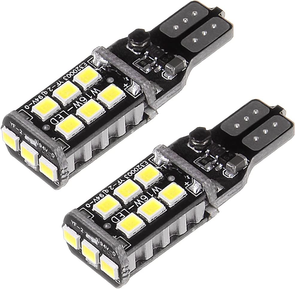 cciyu 10 Pack Error Free Super Bright White 912 921 T10 LED Bulbs Replacement fit for Backup Reverse Light