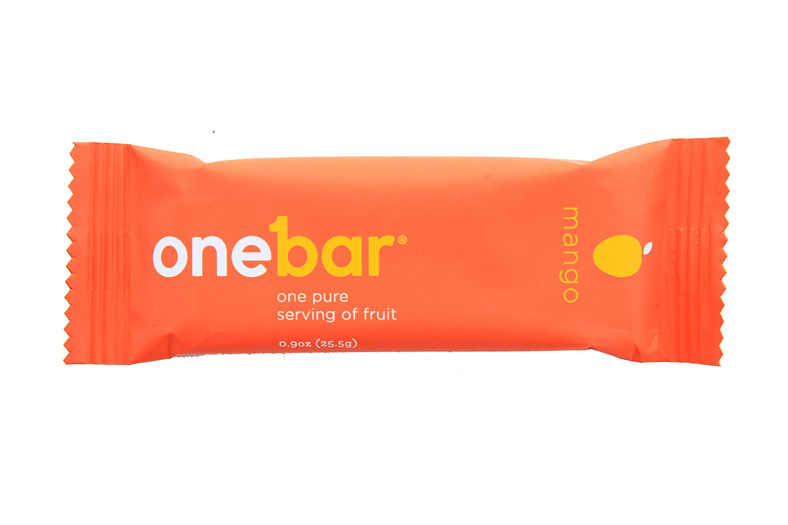 OneBar - One Pure Serving of Fruit. 100% Natural, Gluten Free, Enriched with Baobab - Mango, 0.9 Ounce (Pack of 12) by OneBar
