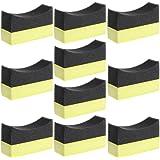 Amrka Professional Automotive Car Wheel Washer Tyre Tire Dressing Applicator Curved Foam Sponge Pad (10Pcs Car Foam Sponge Pad)
