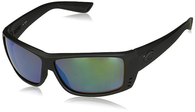 cc7e2f3884 Amazon.com  Costa del Mar Cat Cay Sunglasses Blackout Green Mirror ...