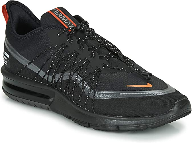 Nike Air Max Sequent 4 Shield noire et orange Chaussures
