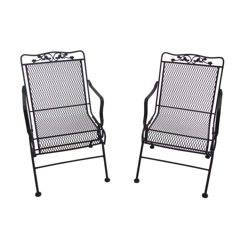 Glenbrook Black Patio Action Chair (2-Pack) by Arlington House