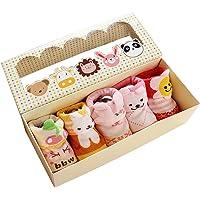 Gosear Baby Socks, 5 Pares Calcetines de bebé de Dibujos Animados Lindo Chicos a niños niñas de 0-12 Meses