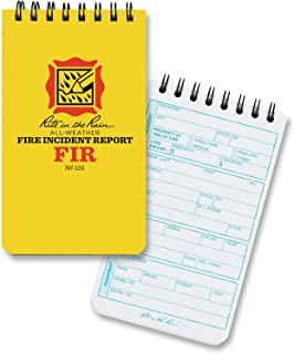 """product image for Rite in the Rain All-Weather Fire Incident Report Notebook, 3"""" x 5"""", Yellow Cover, Incident Report Form Pages (No. 125)"""